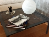Table basse métallique avec tôle perforée
